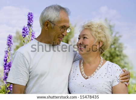 Portrait of mature loving couple