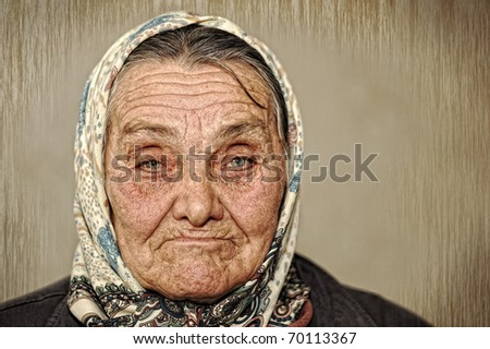 portrait of mature woman with...