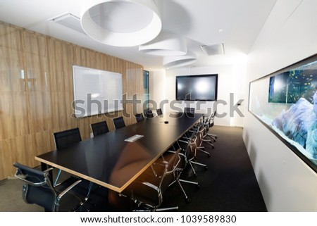 Portrait of modern well designed conference room