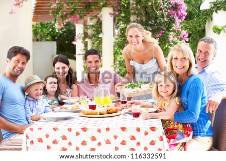 Portrait Of Multi Generation Family Meal