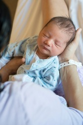 portrait of newborn in hospital