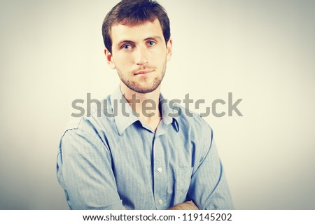 Portrait of nice young men in shirt
