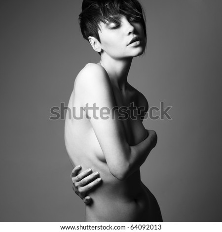 stock photo portrait of nude sensual woman with elegant hairstyle 64092013 ... sensual nude art photography in the new edition of Musetouch Visual Arts ...