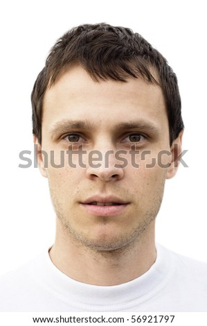Portrait of one man - stock photo