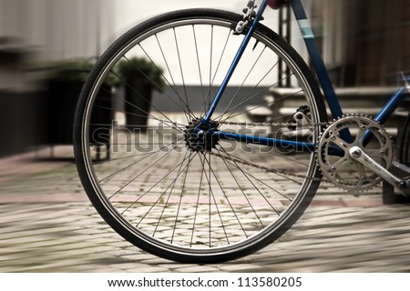 portrait of os bicycle in the...