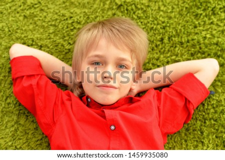 Portrait of portrait of cute little boy sleeping