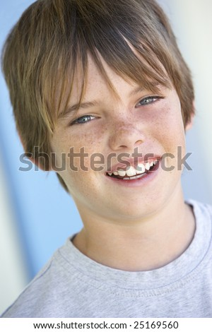 stock photo : Portrait Of Pre-Teen Boy Smiling