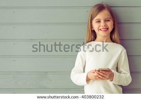 portrait of pretty little girl...
