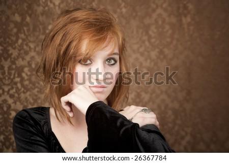 reddish orange hair dye. reddish orange hair color.