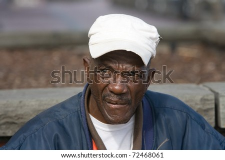 Portrait of retired African American man outside during the daytime