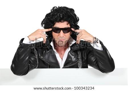 Portrait of rocker