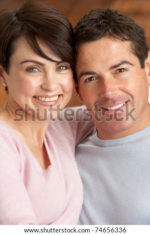 Portrait Of Romantic Young Couple