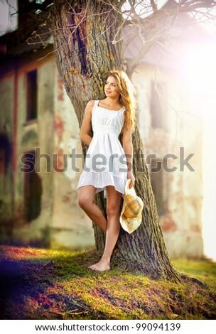 portrait of rural beautiful girl