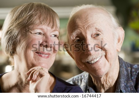Portrait of Senior Couple in their Dining Room
