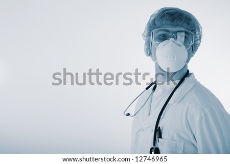 Portrait of senior family doctor with stethoscope.