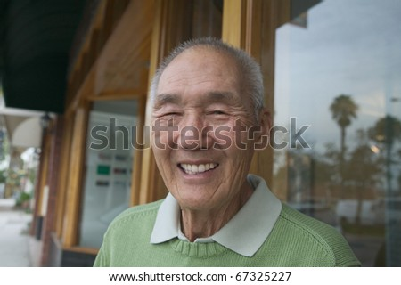 Portrait of senior man smiling