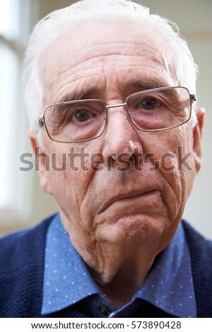 Portrait Of Senior Man Suffering From Stroke #573890428