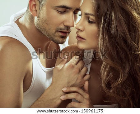 Portrait of sensual couple