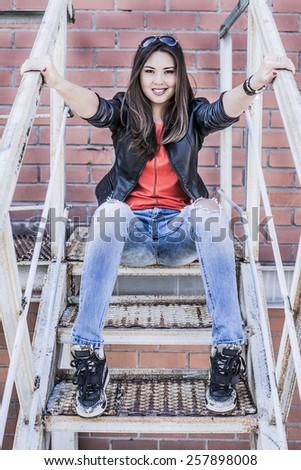 asian jeans Cute girls wearing