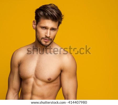 Portrait Of Sexy Male Model #414407980