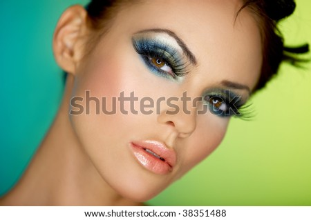 Portrait of sexy woman with outstanding makeup