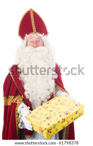 Portrait of Sinterklaas, a Dutch tradition which is celebrated at December 5th.