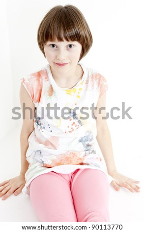 portrait of sitting girl