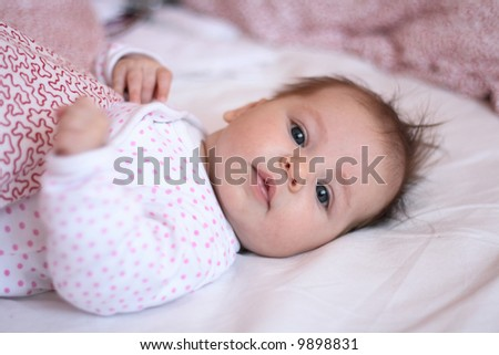 portrait of small baby