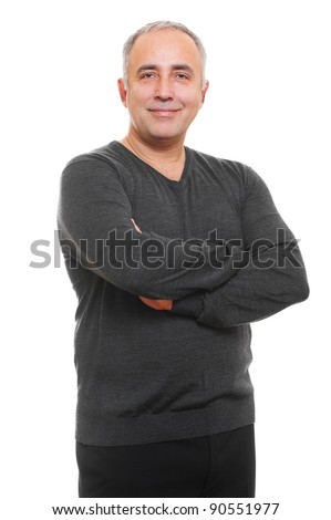 portrait of smiley senior man. isolated on white background