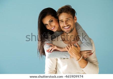 Portrait of smiling beautiful couple