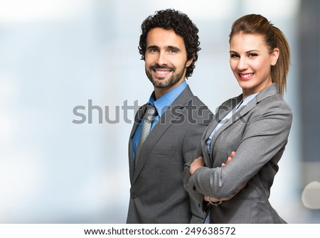 Portrait of smiling business people Foto stock ©