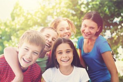 Portrait of Smiling Children