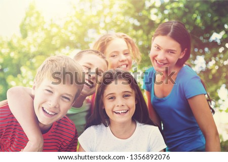 Portrait of Smiling Children