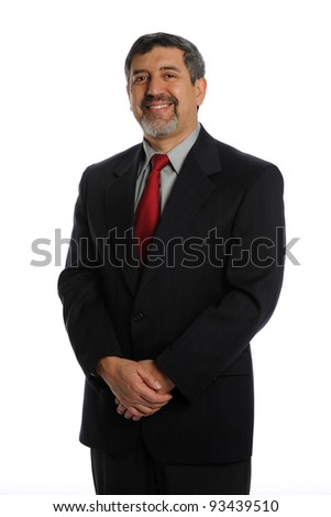 Portrait of Smiling Hispanic businessman