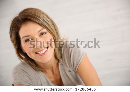 Portrait of smiling middle-aged woman