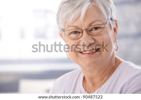 Portrait of smiling senior woman.?