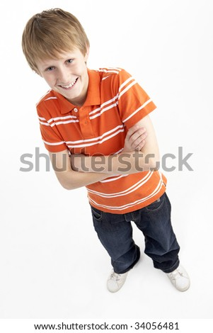 stock photo : Portrait Of Smiling 12 Year Old Boy