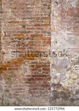 Portrait of stone wall texture