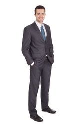 Portrait of successful businessman. Isolated on white