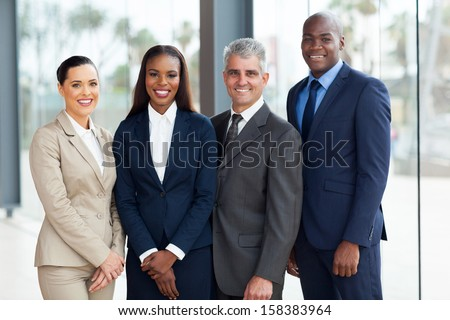 portrait of successful businesspeople team