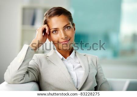 Portrait of successful white collar worker