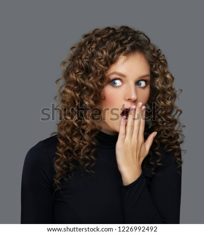Portrait of surprised girl /shocked girl #1226992492