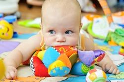 portrait of sweet blue-eyed baby