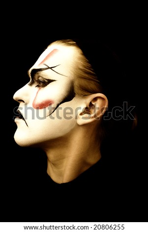 Portrait of the actor  traditional Japanese theatre  Kabuki