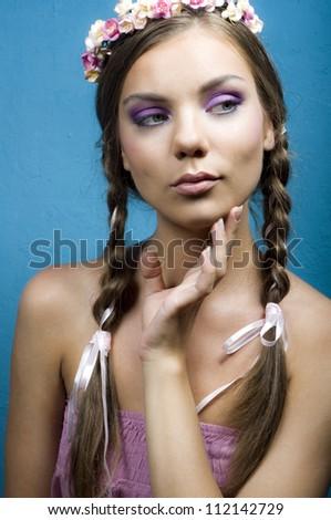 Portrait of the flirting girl