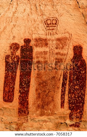 portrait of the Holy Ghost pictograph in Horseshoe Canyon
