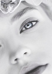 Portrait of the light-eyed girl