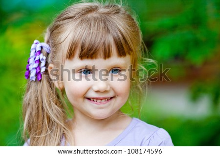 portrait of the little girl