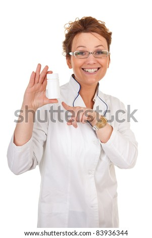 portrait of the medical worker on a white background