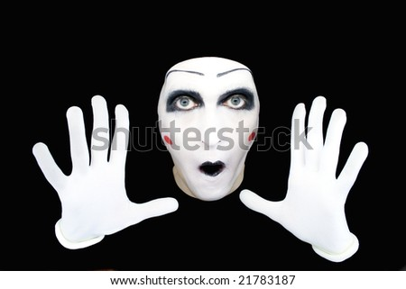 Portrait of the mime in white gloves  MORE  IMAGES FROM THIS SERIES IN MY PORTFOLIO